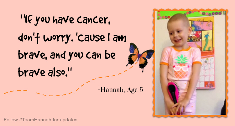 5 year old Hanna's Cancer Commerial - Hannah Higgins has a message about cancer