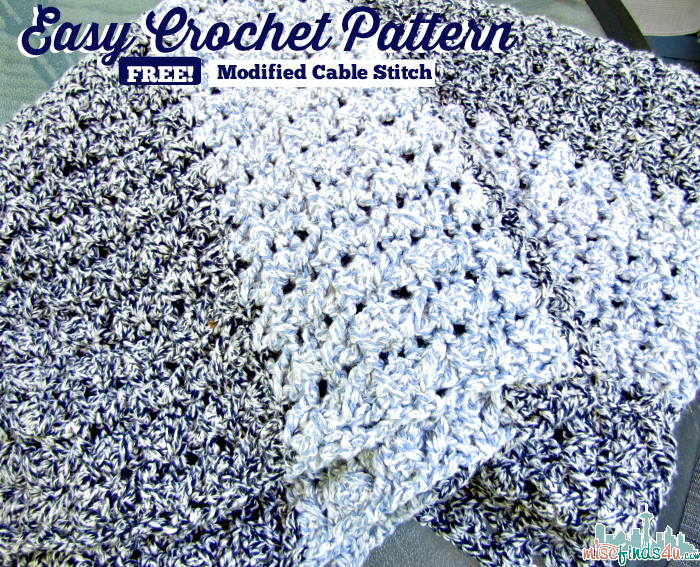 Easy Modified Cable Stitch Crochet Afghan