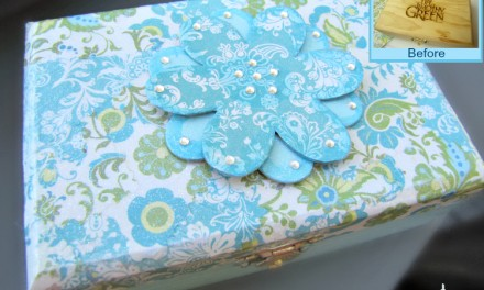 How to Paint a Wood Box: Decoupage Craft Makeover #DIY #Craft