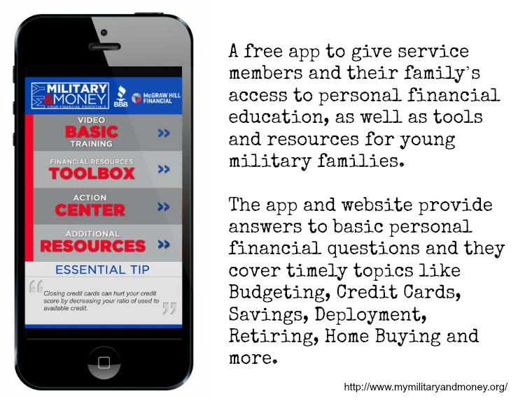 My Military and Money App - #MilitaryMoneyApp ad