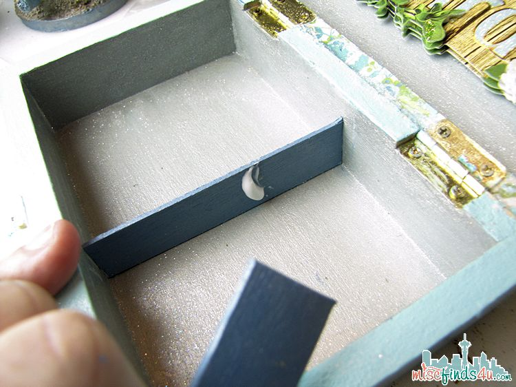 Painted Trinket Box - adding dividers