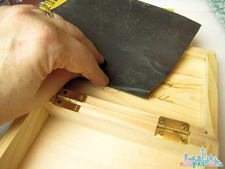 Recycling Wooden Box - sanding