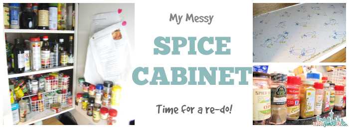 Spicy Shelf Stackable Organizer - Cabinet Makeover  - Before - ad