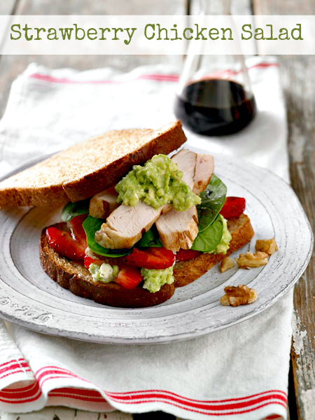 Strawberry & Balsamic Grilled Chicken Sandwich Recipe - #BakedFreshLocally #sponsored #MC