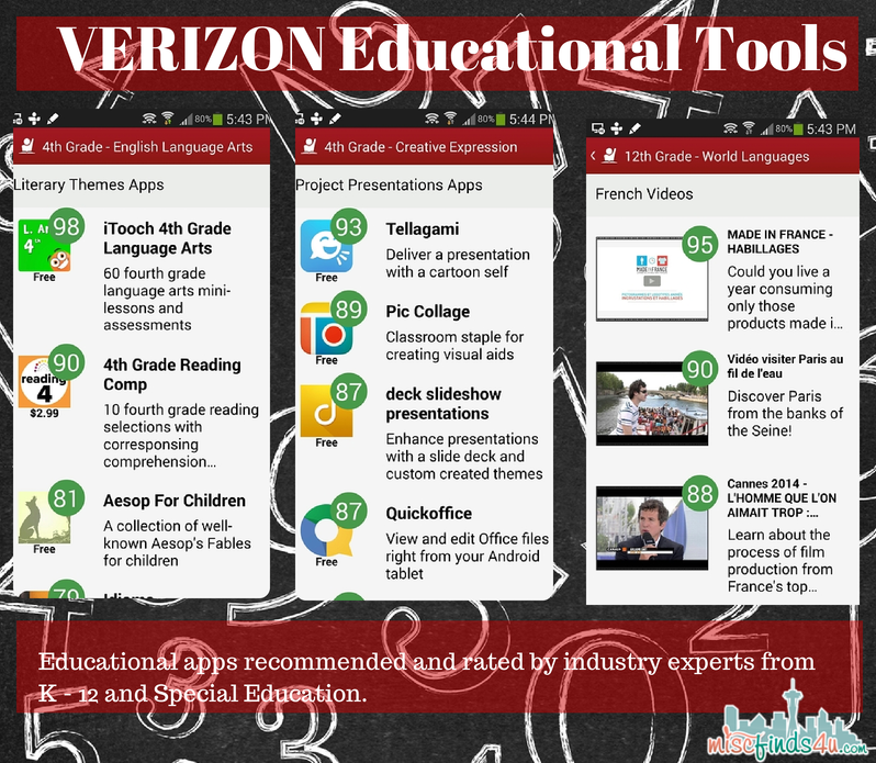 VERIZON Educational Tools - Examples Verizon Educational Tools: Customized Student App Resources #VZWEducation ad