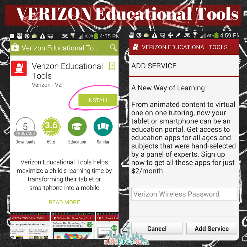 Verizon Educational Tools: Customized Student App Resources #VZWEducation ad