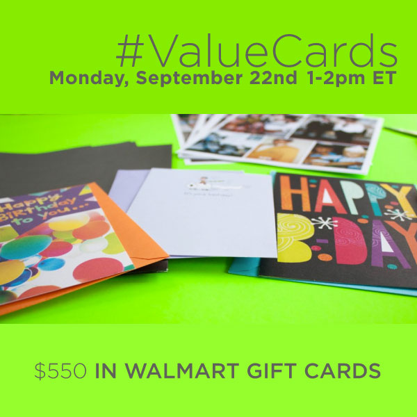 RSVP for the #ValueCards Twitter Party on 9/22