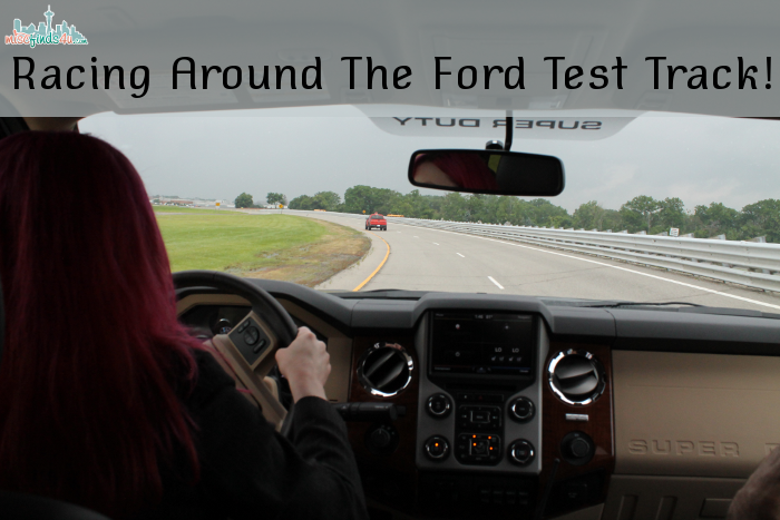 Racing around the Ford Test Track!