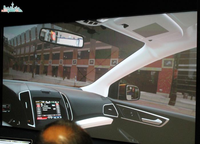 3D car interior simulation