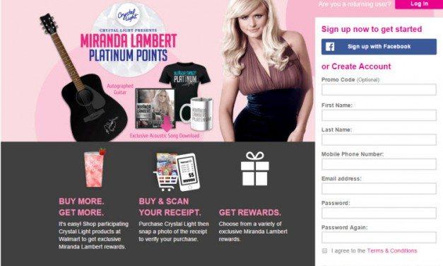 Miranda Lambert Platinum Points Program