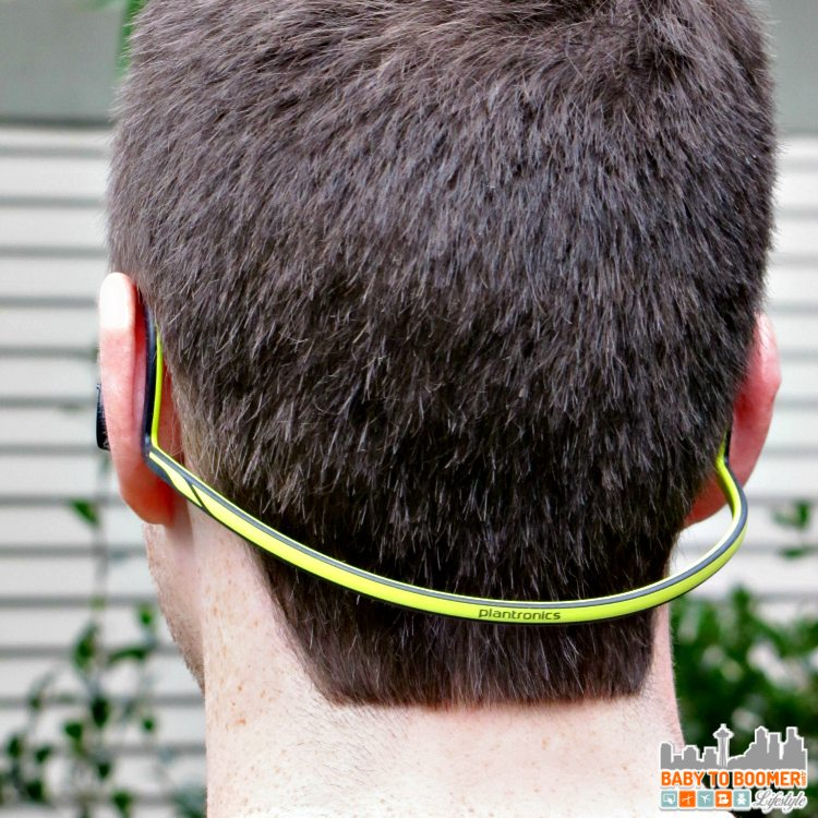 Rear View - BackBeat FIT Wireless Headphones - Great Sound & Stay-put Style #VZWBuzz ad
