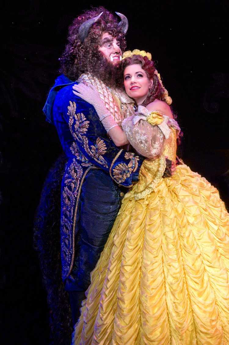 Darick Pead as Beast and Hilary Maiberger as Belle. Photo by Amy Boyle. - Beauty and the Beast National Tour Seattle  ad