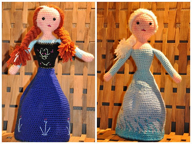 "Elsa"" Crocheted Doll Pattern Designed and crocheted by Becky Ann ... 