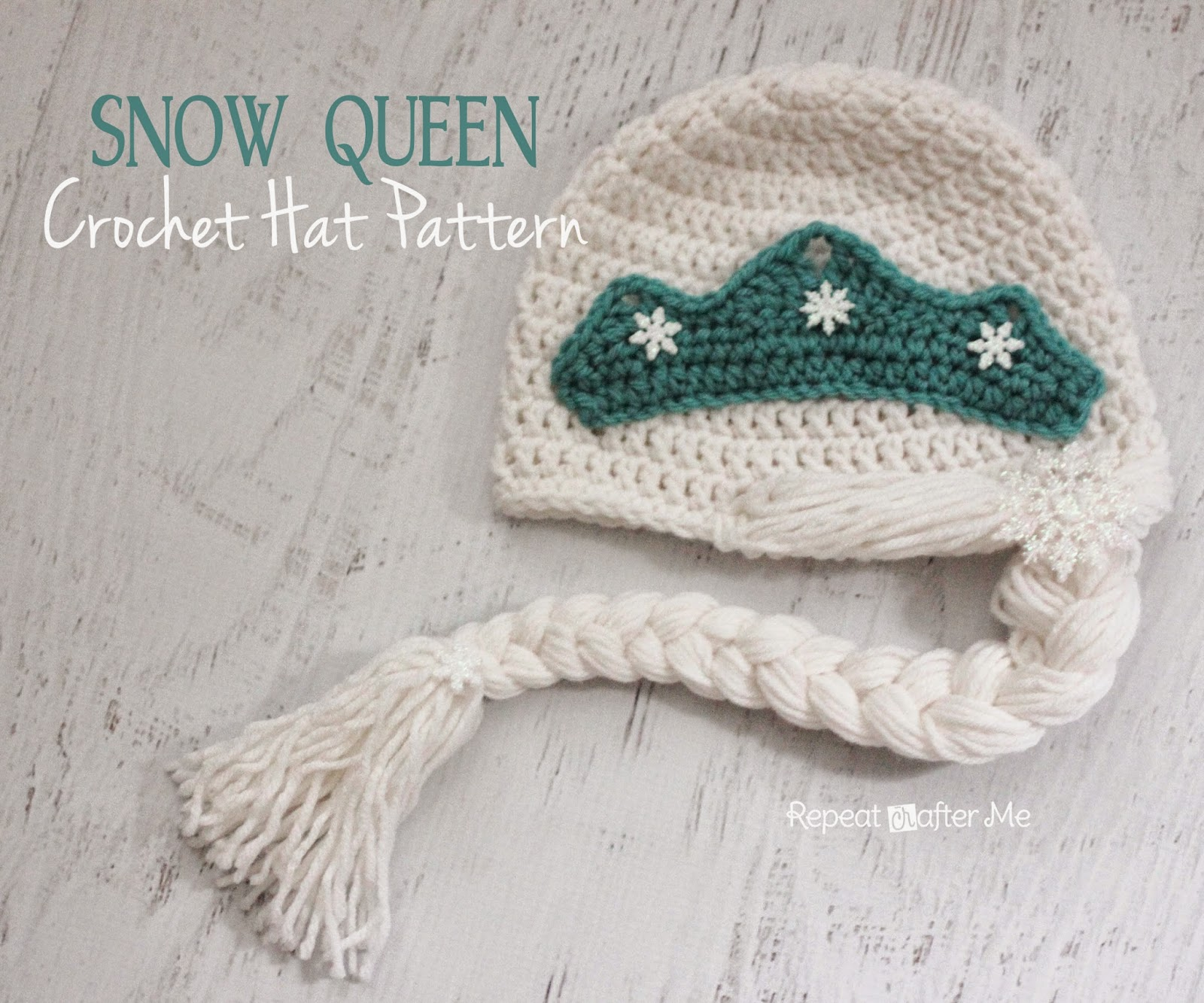 Free Frozen Crochet Pattern Princess Hat by Repeat Crafter Me