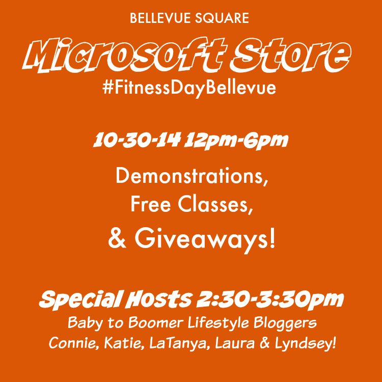 Bellevue Square Microsoft Store #FitnessDayBellevue Event 10/30  #Seattle #Giveaways Ad