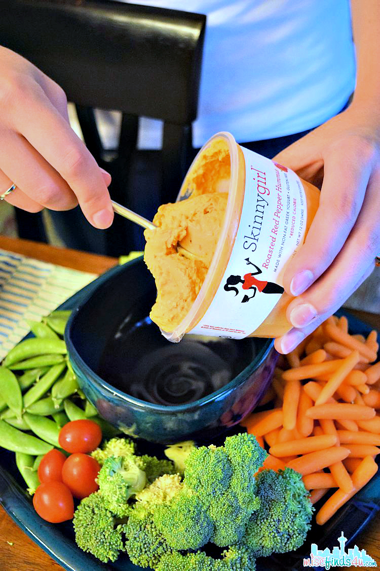 Skinnygirl Hummus - Red Roasted Pepper Skinnygirl Hummus: Roasted Red Pepper Helped Us Ditch the Ranch! #NowThisIsSkinnyDipping