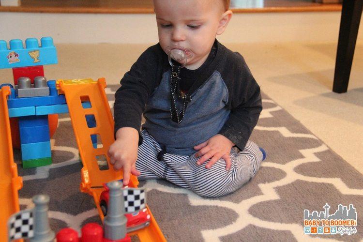 Toddlers love Mega Blox Fast Tracks too