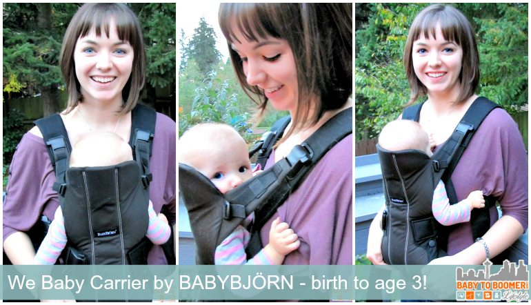BabyBjorn Baby Carrier We: Comfort From Birth to Age 3 = comfort and quality baby pack she'll use from birth to age 3 - ad