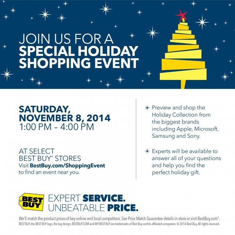 Best Buy Holiday Shopping Event Details