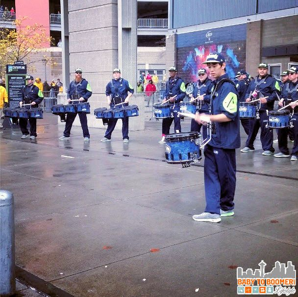 Seahawks Blue Thunder Drumline - Verizon Experience at Touchdown City, CenturyLink Field #VZWBuzz #MoreSeattle ad