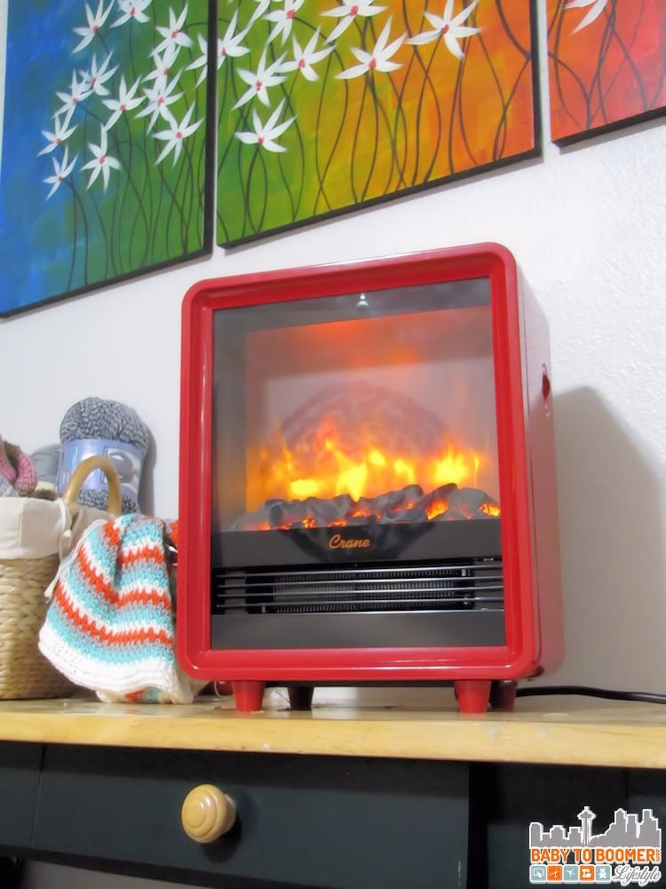 Crane Heater Red Electric Fireplace Heater Reivew