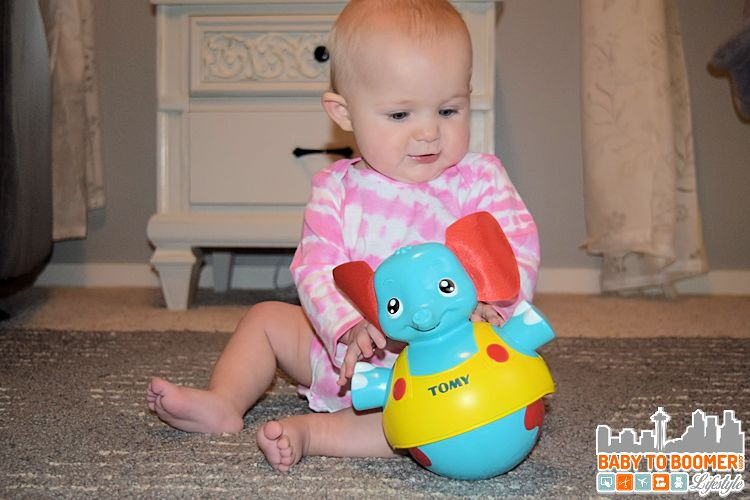 Elephant rolly poly infant toy