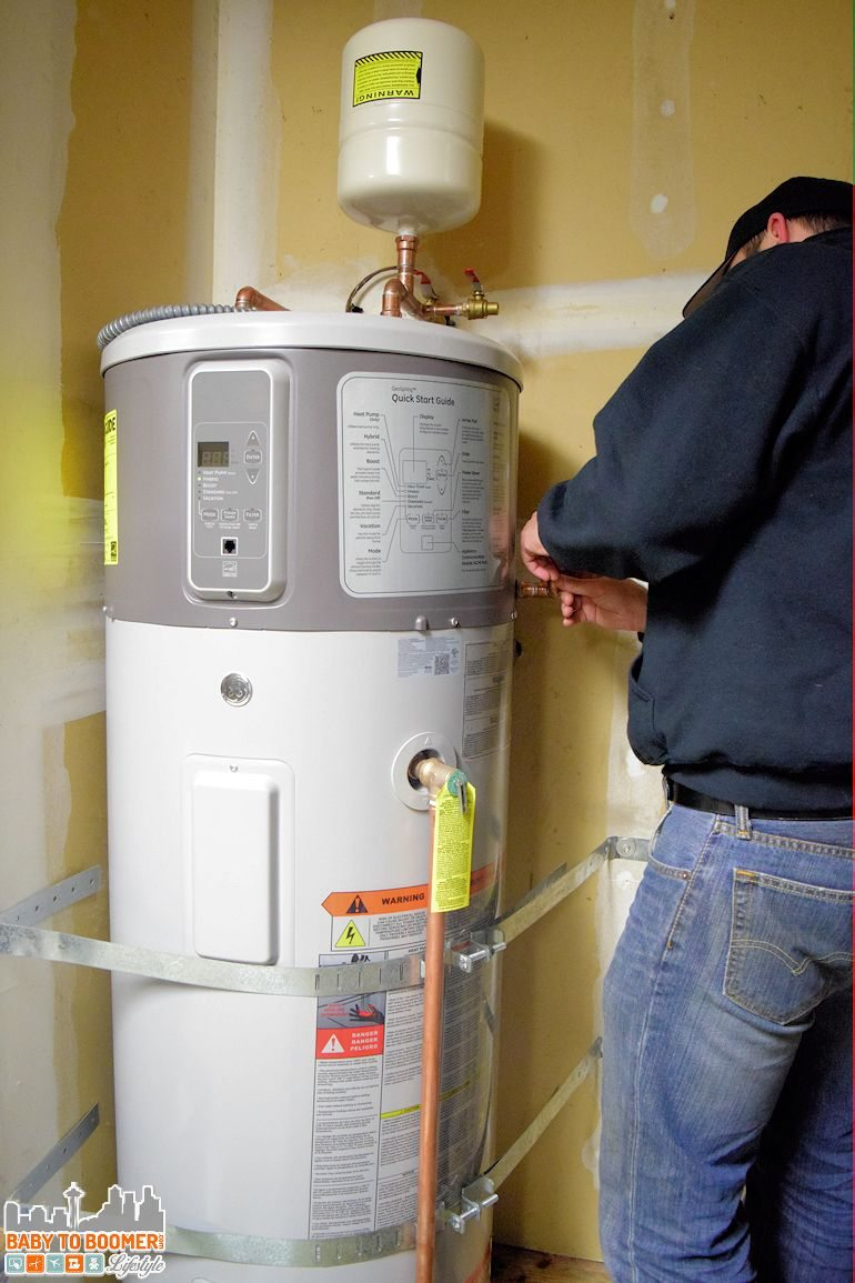 Installing a Hybrid Water Heater - Home Energy DIY Upgrades Can Mean Big Savings #PGEhome ad
