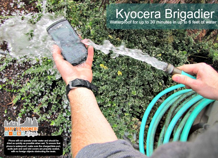 Kyocera Brigadier: Rugged Waterproof Smartphone