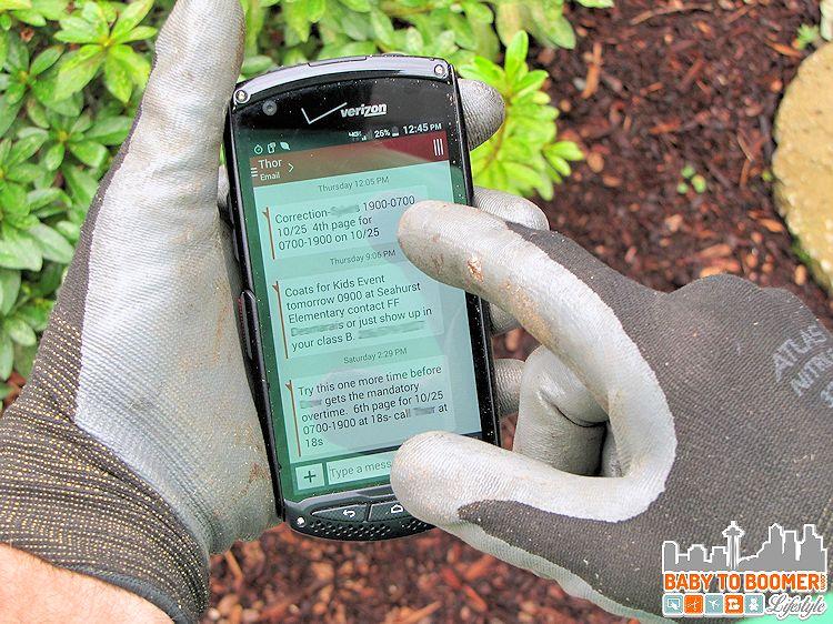 Kyocera Glove Test - Kyocera Brigadier: Rugged Waterproof Smartphone @Kyocera #VZWBuzz