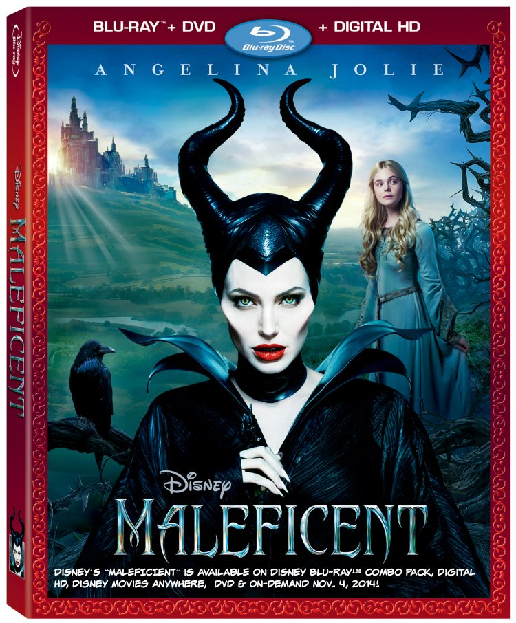 """Disney's """"MALEFICIENT"""" will be available on Disney Blu-ray™ Combo Pack, Digital HD, Disney Movies Anywhere,  DVD & On-Demand Nov. 4, 2014! - ad"""