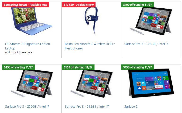 Microsoft Black Friday 2014 Deals Going on Now - ad