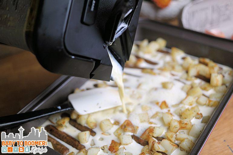 Easy egg, potato and sausage bake recipe - Baker's Secret Colored Bakeware - #ad