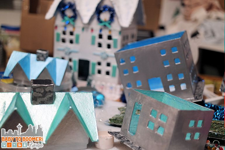 Make your own Christmas Houses - super easy DIY craft