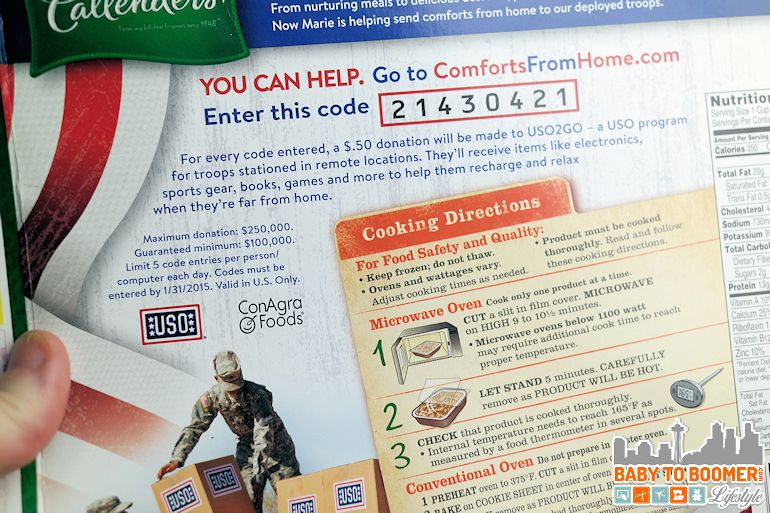 Marie Callender's Comforts From Home Program - #ComfortsFromHome ad