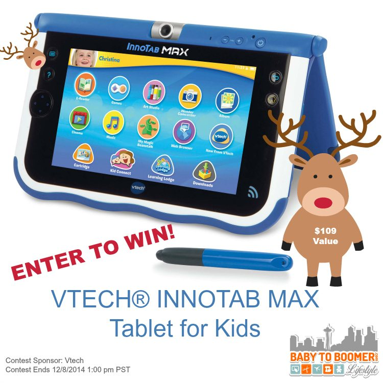 Enter to win a VTECH® INNOTAB MAX Tablet for Kids - $109 Value - ad