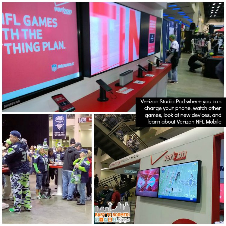 Verizon Studio Pod - Seattle Seahawks Verizon Experience at Touchdown City, CenturyLink Field #VZWBuzz #MoreSeattle ad