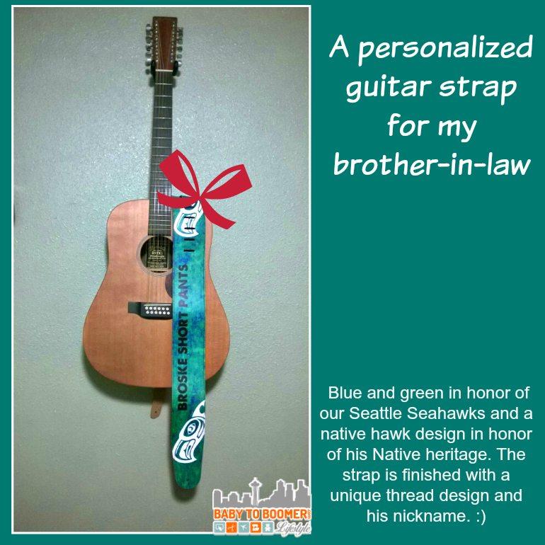 Christmas Gift - Customer Guitar Strap - ad