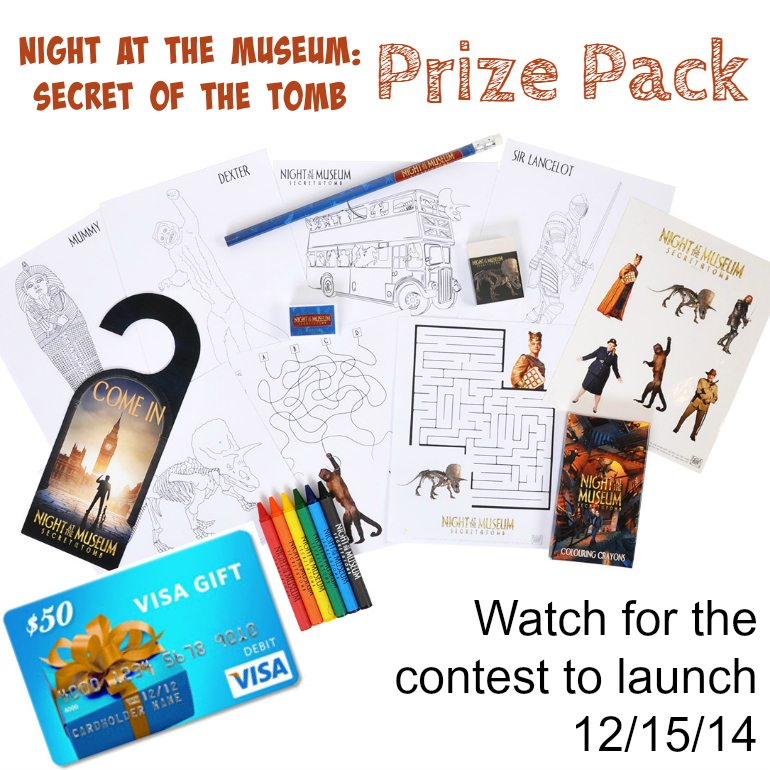 Night at the Museaum Activity Tin Prize Pack Announcement