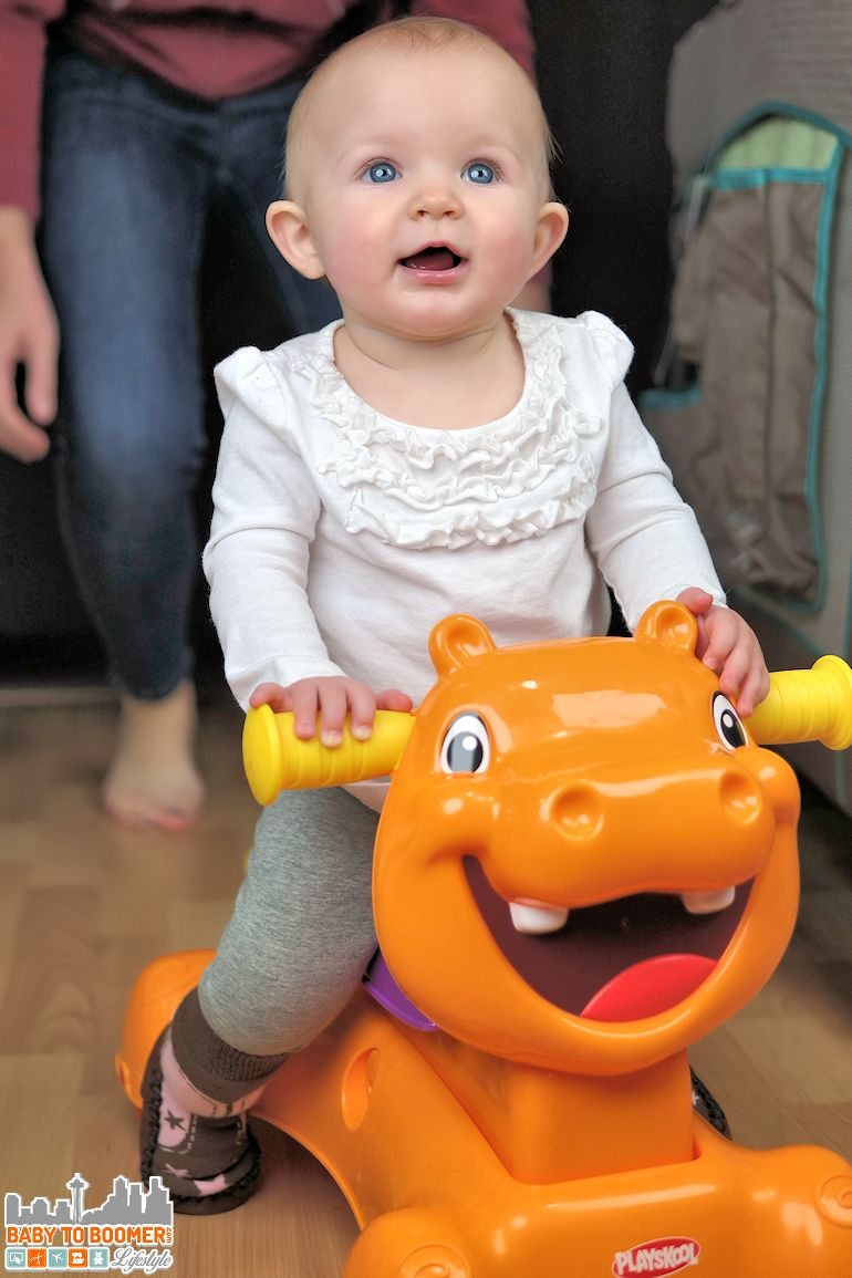 Toddler Toys: Playskool ROCK, RIDE 'N STRIDE HIPPO Toy -  Ad
