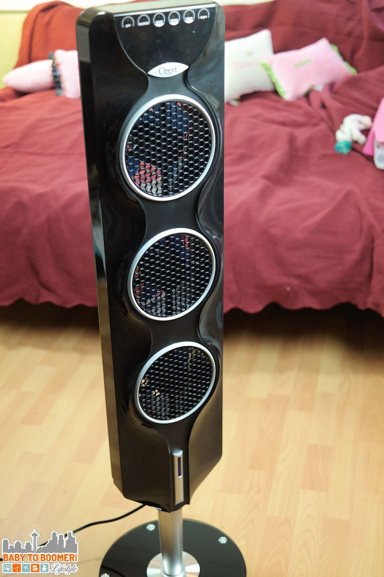 Ozeri 3x Tower Fan - Air Flow and Cooling Year Round = ad