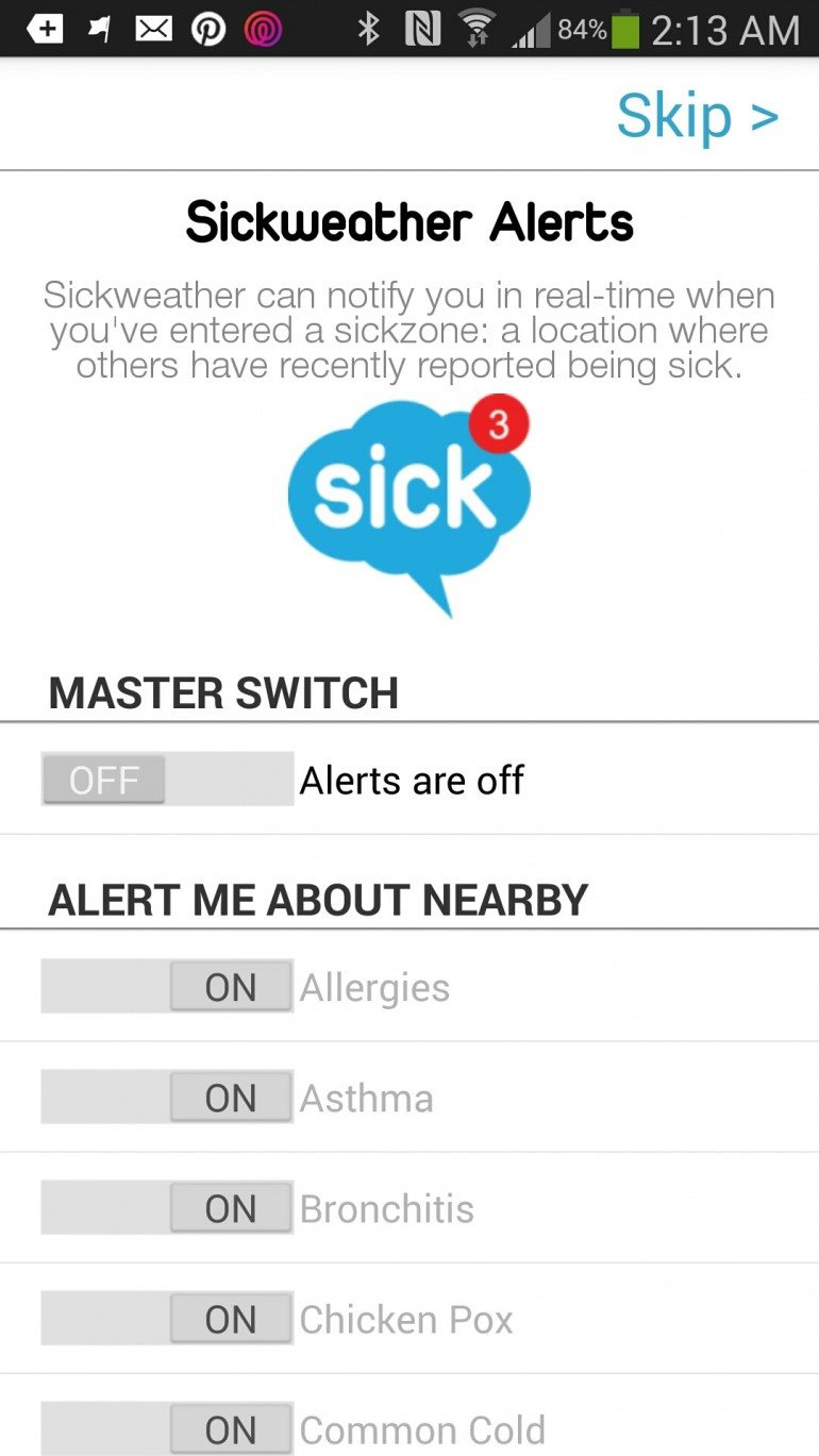 Setting Sickweather Alerts 0 #Sponsored #Sickweather #MC