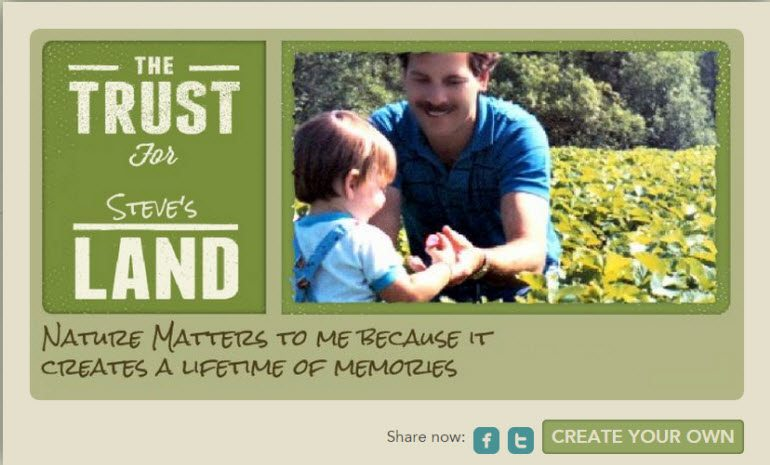My husband and son shared their picture with the Trust for Public Land Virtual Postcard Campaign #OurLand