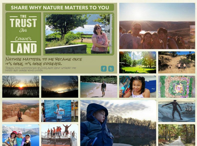 I added my photo to the Trust for Public Land Virtual Postcard Campaign #OurLand
