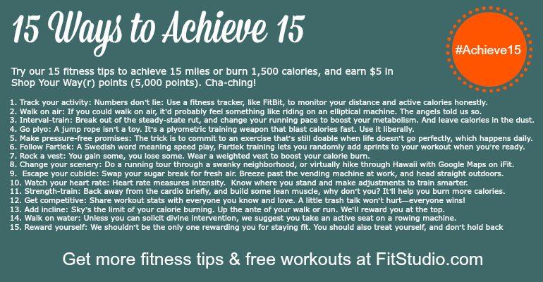 15 Ways to Achieve 15 FitStudio