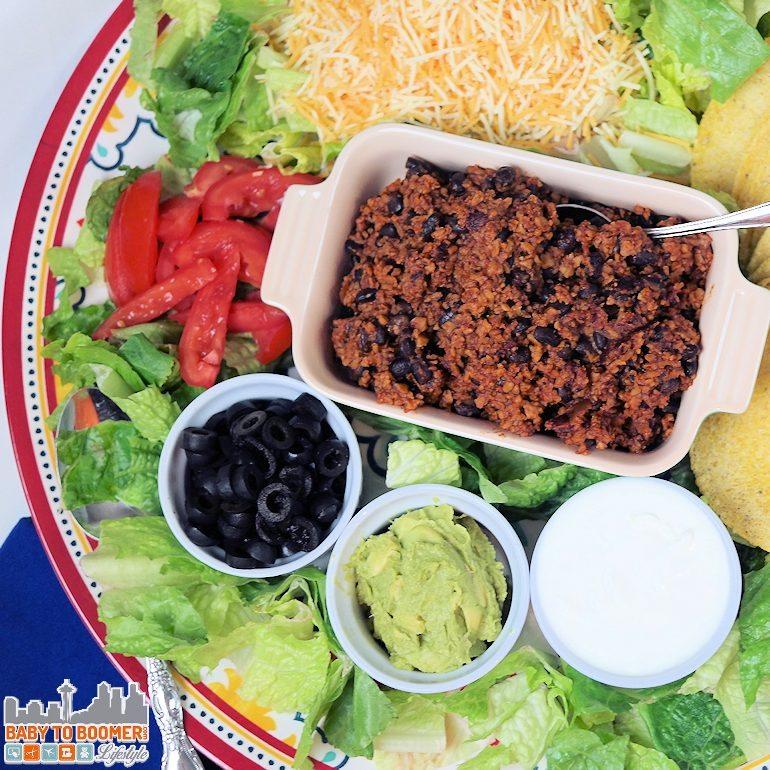 Vegetarian Tacos Featuring McCormicks Taco Chipotle & Garlic Skillet Sauce #McCormickSkilletSauce ad