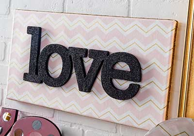 DIY Love Wall Art by Plaid