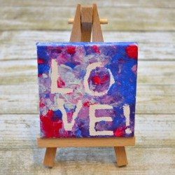 Mini LOVE Canvas Art by One Artsy Mama