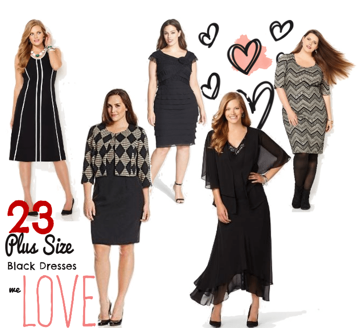 Plus Size Little Black Dress: Our Fav 23 Dresses (Prints & Solids)