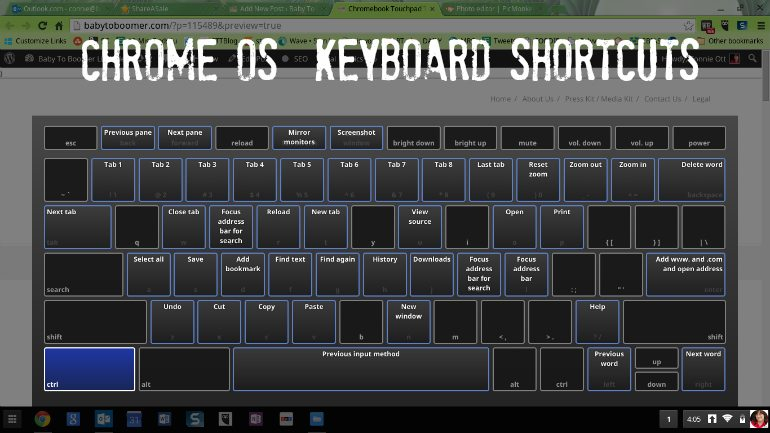 Chromebook Touchpad Tip and Keyboard Shortcuts