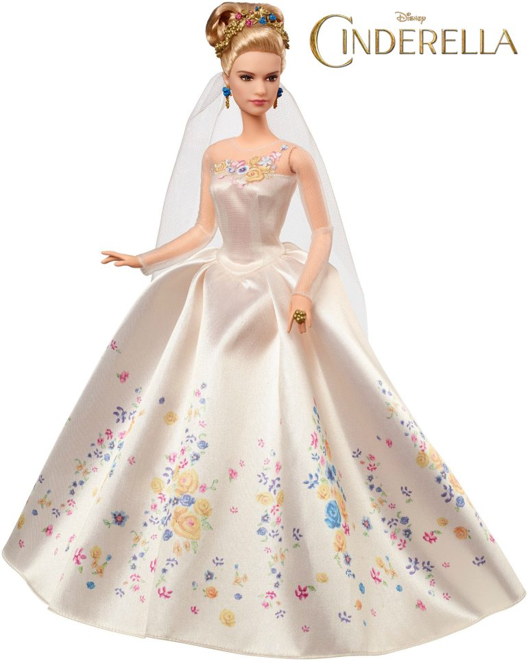 Disney cinderella wedding day bride doll by mattel cinderella live